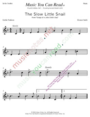 """The Slow Little Snail"" Music Format"