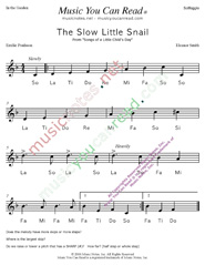 "Click to Enlarge: ""The Slow Little Snail"" Solfeggio Format"