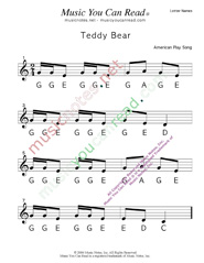 "Click to Enlarge: ""Teddy Bear"" Letter Names Format"
