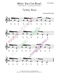 "Click to Enlarge: ""Teddy Bear"" Pitch Number Format"