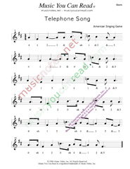 "Click to enlarge: ""Telephone Song,"" Beats Format"