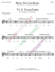 "Click to enlarge: ""To a Snowflake"" Beats Format"