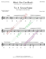 "Click to Enlarge: ""To a Snowflake"" Letter Names Format"