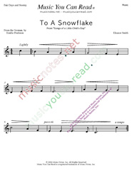 """To a Snowflake"" Music Format"