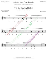 "Click to Enlarge: ""To a Snowflake"" Pitch Number Format"