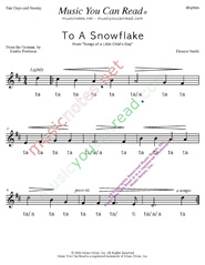 "Click to Enlarge: ""To a Snowflake"" Rhythm Format"