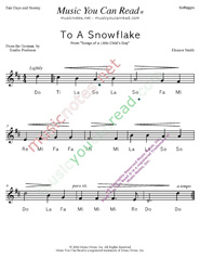 "Click to Enlarge: ""To a Snowflake"" Solfeggio Format"
