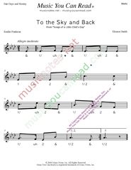 "Click to enlarge: ""To the Sky and Back"" Beats Format"