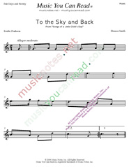 """To the Sky and Back"" Music Format"