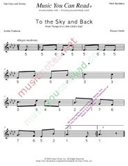 "Click to Enlarge: ""To the Sky and Back"" Pitch Number Format"