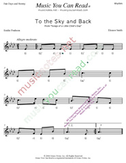 "Click to Enlarge: ""To the Sky and Back"" Rhythm Format"