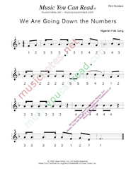 "Click to Enlarge: ""We Are Going Down the Numbers"" Pitch Number Format"