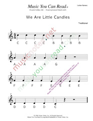 "Click to Enlarge: ""We Are Little Candles"" Letter Names Format"