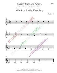 """We Are Little Candles"" Music Format"