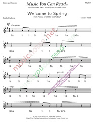 "Click to Enlarge: ""Welcome to Spring"" Rhythm Format"