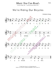 "Click to enlarge: ""We're Riding Our Bicycles"" Beats Format"