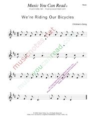 """We're Riding Our Bicycles"" Music Format"