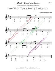 "Click to enlarge: ""We Wish You a Merry Christmas"" Beats Format"
