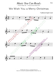 """We Wish You a Merry Christmas"" Music Format"