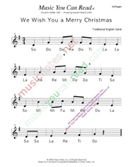 "Click to Enlarge: ""We Wish You a Merry Christmas"" Solfeggio Format"