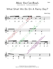 "Click to enlarge: ""What Shall We Do on a Rainy Day?"" Beats Format"