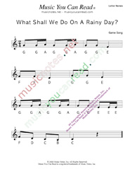 "Click to Enlarge: ""What Shall We Do on a Rainy Day?"" Letter Names Format"
