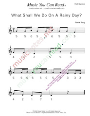 "Click to Enlarge: ""What Shall We Do on a Rainy Day?"" Pitch Number Format"