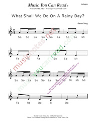 "Click to Enlarge: ""What Shall We Do on a Rainy Day?"" Solfeggio Format"