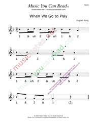 "Click to enlarge: ""When We Go To Play"" Beats Format"