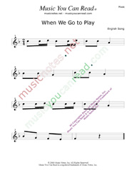 """When We Go To Play"" Music Format"