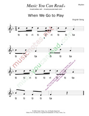 "Click to Enlarge: ""When We Go To Play"" Rhythm Format"