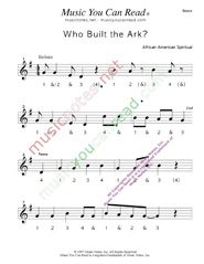 "Click to enlarge: ""Who Built the Ark?"" Beats Format"
