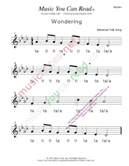"Click to Enlarge: ""Wondering"" Rhythm Format"