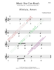 "Click to enlarge: ""Alleluia, Amen"" Beats Format"
