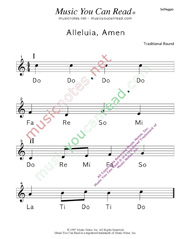 "Click to Enlarge: ""Alleluia, Amen"" Solfeggio Format"