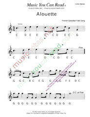"Click to Enlarge: ""Alouette"" Letter Names Format"