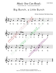 "Click to Enlarge: ""Big Bunch, A Little Bunch"" Letter Names Format"