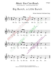"Click to Enlarge: ""Big Bunch, A Little Bunch"" Solfeggio Format"