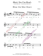 "Click to enlarge: ""Blow the Man Down"" Beats Format"