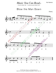 "Click to Enlarge: ""Blow the Man Down"" Pitch Number Format"