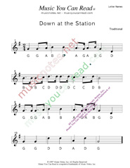 "Click to Enlarge: ""Down at the Station"" Letter Names Format"