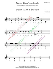 "Click to Enlarge: ""Down at the Station"" Pitch Number Format"
