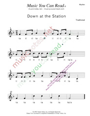 "Click to Enlarge: ""Down at the Station"" Rhythm Format"