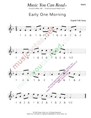 "Click to enlarge: ""Early One Morning"" Beats Format"