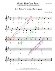 "Click to Enlarge: ""Eh Soom Boo Kawaya"" Pitch Number Format"