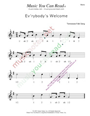 "Click to enlarge: ""Ev'rybody's Welcome"" Beats Format"