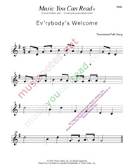 """Ev'rybody's Welcome"" Music Format"