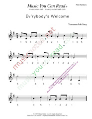 "Click to Enlarge: ""Ev'rybody's Welcome"" Pitch Number Format"