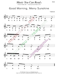 "Click to enlarge: ""Good Morning, Merry Sunshine"" Beats Format"