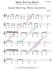 "Click to Enlarge: ""Good Morning, Merry Sunshine"" Letter Names Format"